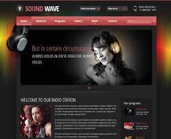 Music Website Templates Interesting Radio Themes Online Radio Station Templates Gridgum