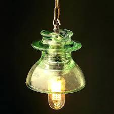 glass insulator pendant light diy lamp lights by parts pin and wall lamps make glass insulator pendant lights