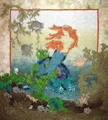 Mermaids Dream - And Shelli Ricci's Quilts Sing | Mermaid quilt ... & Mermaid applique quilt using reproduction fabrics from Moda Adamdwight.com