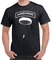 Airborne T Shirt Paratrooper Jump 82nd Fashion Casual Print T Shirt Human Race Hip Hop Clothing Cotton Short Sleeve T Shirt Shirt On T Shirt Hilarious