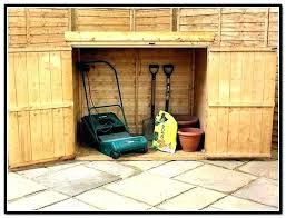 lawn mower storage shed riding ideas bin plans diy sto