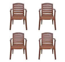 Home By Nilkamal Passion Garden Set Of 4 Chair Mango Wood