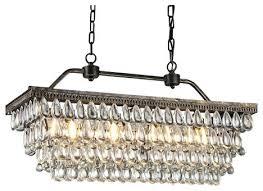 rectangular crystal chandelier antique style copper 4 light rectangular crystal chandelier rectangular crystal chandelier with black