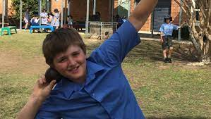 St Joseph's Primary School student Isaac Edwards comes fourth in shot put  at Polding athletics competition at Hunter Sports Centre, Glendale. |  Dungog Chronicle | Dungog, NSW