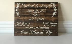 50th Wedding Anniversary Gifts For Parents Canada