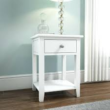 rustic white nightstand. White And Wood Nightstand Solid 1 Drawer Bedside Table Washed Nightstands . Rustic