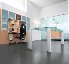 contemporary home office with krystal executive desk  interior