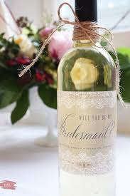diy bridesmaid gifts and how to remove wine labels