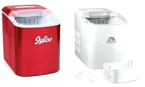 countertop ice maker machine newair clearice40 portable clear stainless steel cm igloo pound automatic