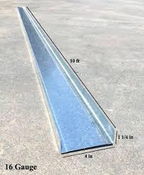 10 ft metal roofing 4 in x ft x gauge galvanized steel track w 1 1