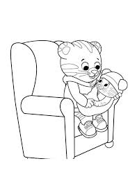 Printable Daniel Tiger Coloring Pages Black And White 169 Get