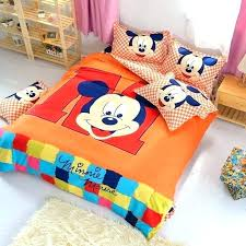 mickey twin bedding mickey mouse twin bed orange mickey mouse twin full queen bed set flat