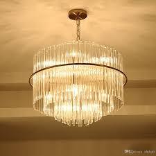 Großhandel Wohnzimmer Led Kronleuchter Luxus Moderne Kristall Lampe Doppelschicht Hängen Cristal Lustre Esszimmer Gold Beleuchtung Von Xhtlsm 32161