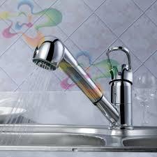 pull copper bathroom faucet shower