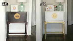 paint furniture without sandingDIY Painted White and Gold Furniture Amy Howard at Home OneStep