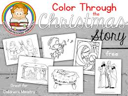 Christmas Bible Coloring Pages Christmas Coloring Pages With