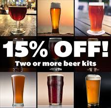great fermentations is offering 15 off your purchase of two or more extract beer kits