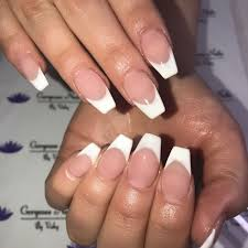 Nail Designs Pictures French Tip Coffin Nails Vs Gel French Tips Frenchtipnails French Tip