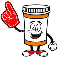 foam finger clipart. pill bottle with foam finger finger clipart