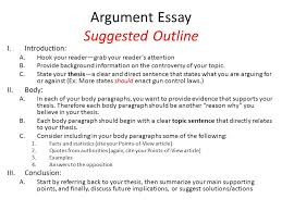 ch reading and writing argument essays ppt  argument essay suggested outline