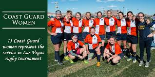 the coast guard women s rugby team poses together after finishing the las vegas invitational the
