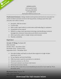 Retail Sales Associate Resume Sample Tomyumtumweb Com