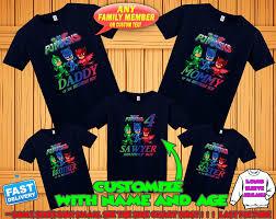 Pj Masks Birthday Shirt Pj Masks Custom Shirt Personalized Pj Masks Shirt Pj Masks Family Shirts Birthday T Shirt For Girls And Boys