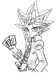 Yu Gi Oh Manga Coloring Pages