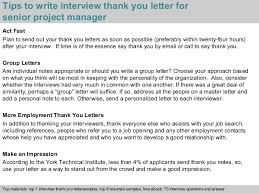 Best Ideas Of Interview Thank You Letter Project Manager Position