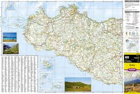 Sicily Italy National Geographic Adventure Map National