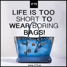 Life is too short to wear boring bags http://www.v73.us #v73 #bag ...