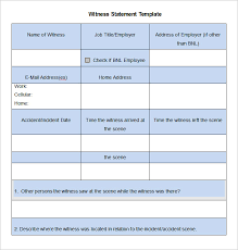 9+ Sample Witness Statement Templates - Pdf, Doc | Free & Premium ...