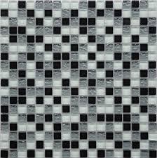 black white pepper checkerboard glass kitchen backsplash mosaic tile ga03 by lada