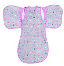 Slumberwings Babyschlafsack Mit Flügeln Elefanten Pinkgrau Für