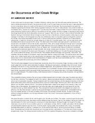 occurrence at owl creek bridge theme essay an occurrence at owl creek bridge theme essay