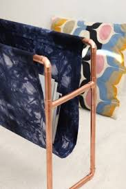 Fabric Magazine Holder DIY revistero de cobre y tela DIY Copper and fabric magazine 38