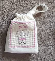 Tooth Fairy Pillow Bag pleted Cross Stitch Keep Sake Gift Dusky