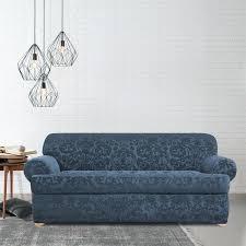 2 cushion sofa slipcover sure fit stretch jacquard damask two piece t three cushion sofa slipcover