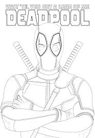 Deadpool Coloring Sheets Marvel Coloring Pages Printable Vs Picture