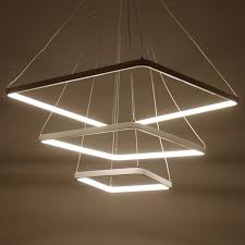 square white pendant light led circle modern hanglamp for living room lampara de techo indoor lighting fixture luminiares contemporary ceiling lights