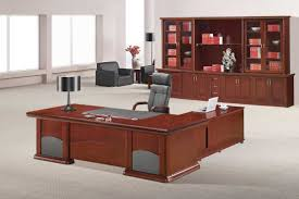 contemporary wood office furniture. Stunning Brown Wooden Modern Executive Desks Gray Swivel Office Chair Dark Chrome Cool Table Lamp Large File Storage Cabinet White Wall Paint Contemporary Wood Furniture E