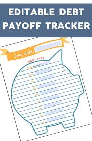 Debt Tracker Spreadsheet Debt Tracker Printable And Spreadsheet Love It Pinterest