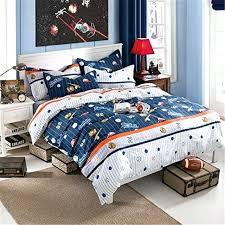 baseball bed sheets cotton kids boys baseball bedding set cartoon duvet cover sets full size children baseball bed