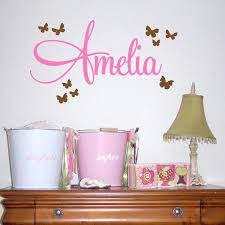 bedroom wall name decals