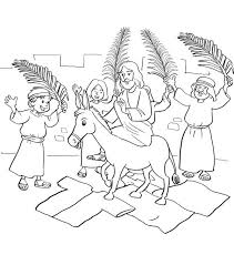 Small Picture Jesus Entry into Jerusalem in Palm Sunday Coloring Page Color Luna