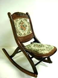 antique wooden rocker folding rocking chair fold up collapsible portable ro