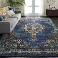blue medallion rug olive traditional gray print nourison passionate navy area blue medallion rug handmade