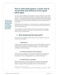White Papers Sample Style Writing Template Sample Paper Example Format Free Templates
