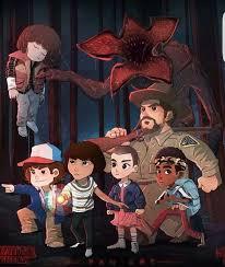Stranger Things Season 1, Demogorgon, Eleven, Mike, Will, Dustin, Lucas,  Chief Hopper, Millie … | Stranger things art, Stranger things fanart,  Stranger things funny