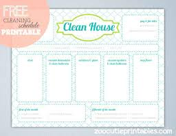 operation clean house cleaning checklist weekly home schedule template for maid